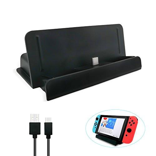 FYOUNG Charging Dock für Nintendo-Switch, USB Typ C Ladekabel Dock Station Cradle Ständer für Nintendo Schalter-Schwarz