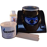 Epilwax S.A.S.Basic -Kit de depilación profesional completo, con cera caliente (cubeta de 400ml, bote de cera de 400 ml)