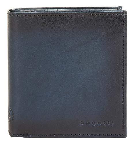 Bugatti Geldbörse RFID Hochformat Domus Echt Leder blau Herren - 018893 -