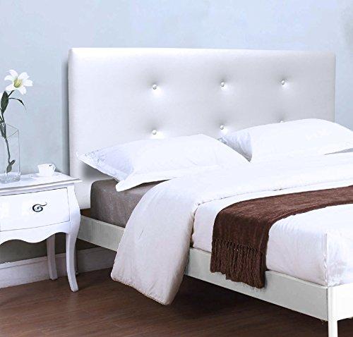 Suenoszzz Bruselas Kopfteil (für Betten mit 90 cm) 100X57 weiß