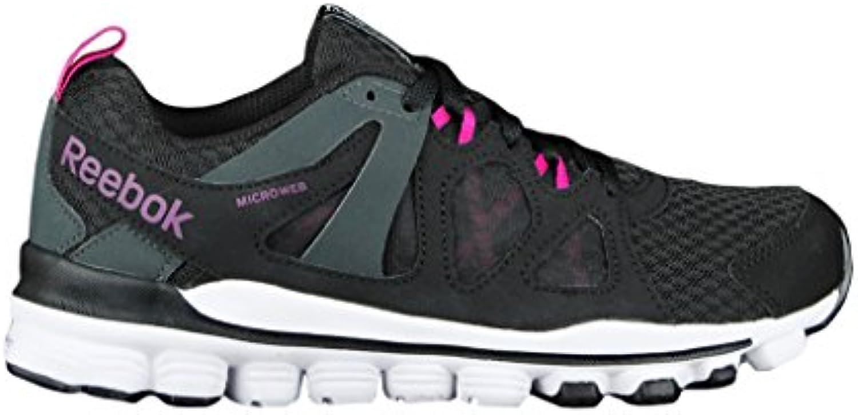 Reebok Hexaffect Run 2.0 - Zapatillas de gimnasia de Material Sintético para mujer Negro Nero/Viola