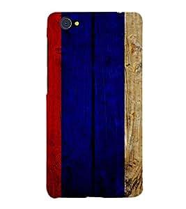 PrintVisa Painted Wooden Pattern 3D Hard Polycarbonate Designer Back Case Cover for VivoX5Pro