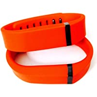 Preisvergleich für ! 2pcs Small S Red (Tangerine) Replacement Bands + 1pc Free Small Grey Band With Clasp for Fitbit FLEX Only /No tracker/ Wireless Activity Bracelet Sport Wristband Fit Bit Flex Bracelet Sport Arm Band Armband