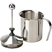 Milk Frother, PYRUS 400ML Stainless Steel Double Mesh Coffee Milk Foamer Cup