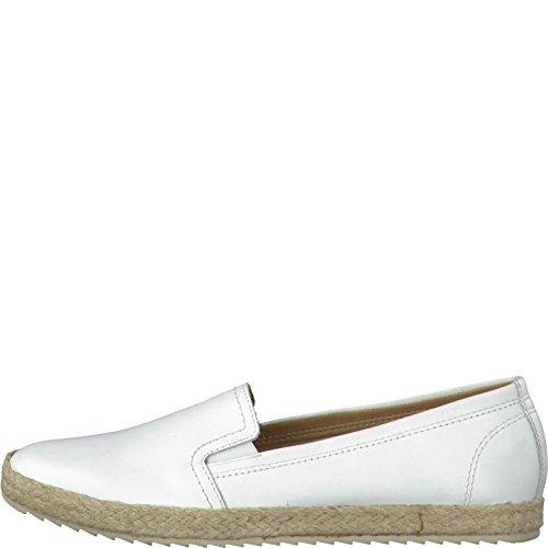 Damen Slipper 37 38 39 40 41 42 weiß Tamaris Slip on 1-24644-117 Espadrilles, Damen Größen:42;Farben:weiß