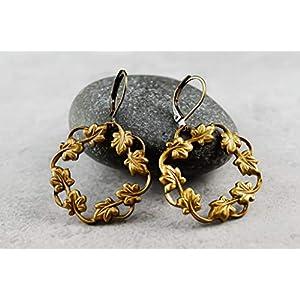 70er Vintage Blätterkranz Ohrringe