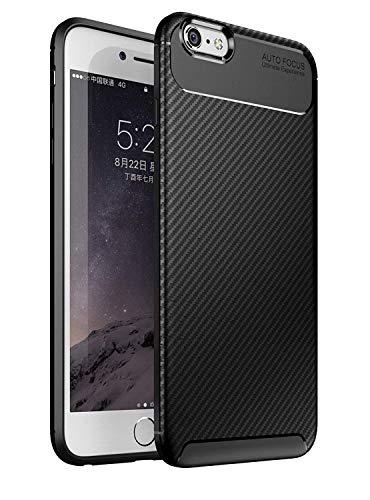 Generico iphone 6s custodia, fibra carbonio texture case silicone tpu cover ultra sottile copertura protezione per apple iphone 6 (4.7 pollice) (iphone 6 / 6s, nero)
