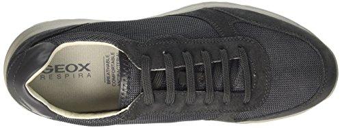 Geox U Damian C, Sneakers Basses Homme Gris (Dk Grey)