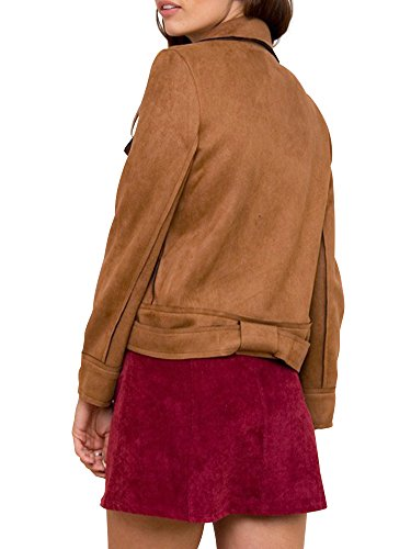 Simplee Apparel -  Giacca  - Maniche lunghe  - Donna Brown