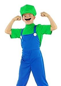 Folat - Super Fontanero para niños Talla L Verde