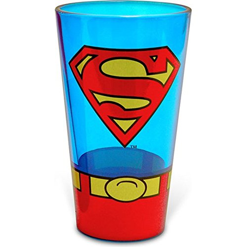 Superman Uniform Pint DC Comics Superheld Bier-trinkende Gläser