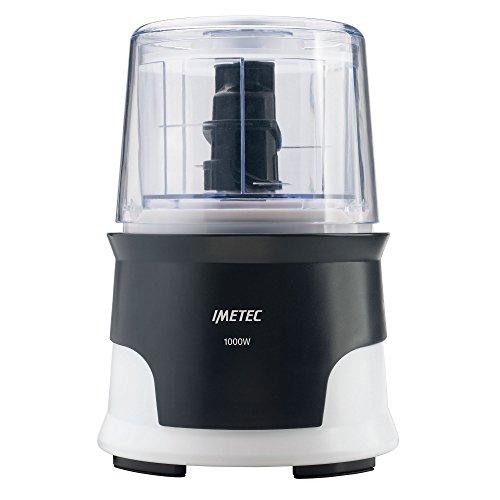 Imetec CH 3000 Tritatutto, 4 Lame in Acciaio Inox, Capiente Contenitore 600 ml, 18.000 Giri/min, Funzionamento a Pressione, 1000 W