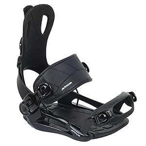 Airtracks Snowboardbindung Master FASTEC™ System – Snowboard Bindung – Schwarz – Größen M L XL