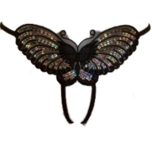 Ann Summers Black Butterfly Crotchless Thong Open Crotch Small 8 - 10