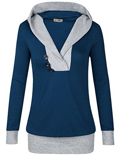 Timeson Damen Kapuzenpullover Gr. S, #31 Navy (Petite Dolman Sleeve)