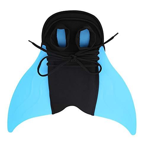 Everpert Kinder Outdoor Schwimmflossen Meerjungfrau Schwanz Tauchen Monoflosse für Kinder Training Lernzubehör (Flipper Delfin Kostüm)
