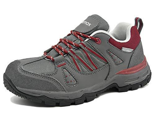 Knixmax Donna Scarpe da Camminata Tecnica da Trekking Scarpe da Passeggio Leggere e Impermeabili Passeggio Antiscivolo da Multifunzione Escursionismo Red-3
