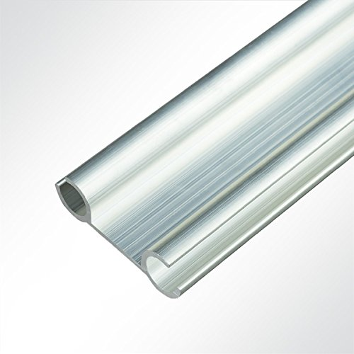 Preisvergleich Produktbild LYSEL Aluminium Verbundprofil Doppelkederschiene Vorzeltkederschiene 12x40mm 2 Meter