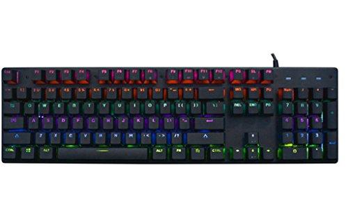 Zsy 104 tasti tastiera meccanica ad asse verde office home eat chicken e-sports game tastiera con piastra in lega di alluminio