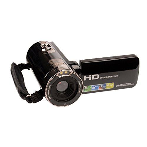 inkint 16x Full HD Cámara de Vídeo Digital de 270 Grados Rotación 24 Megapíxeles con Zoom 3,0 Pulgadas de Pantalla LCD Portátil de la Soporta Tarjeta SD y la Capacidad Máxima es de Hasta