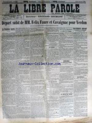 LIBRE PAROLE (LA) [No 738] du 27/04/1894 - LE PROCES D'EMILE HENRY - LES JUIFS - EMILE ZOLA AU TROCADERO - LE CODE PENAL DE CH. DUMAY - MGE FERRATA ET SPULLER. par Collectif