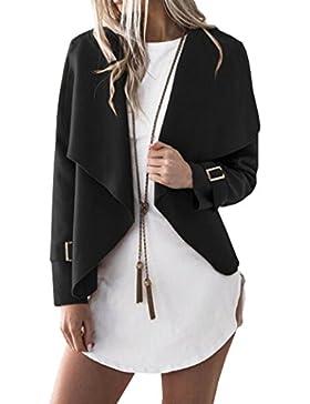 Yeesea Mujer Mangas Largas Chaqueta Cárdigan Moda Casual Elegante Corto Trech Coat Jacket