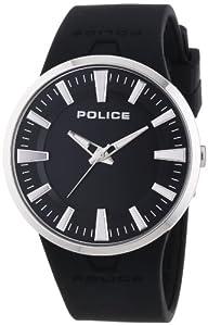 Police DAKAR - Reloj de cuarzo para hombre, con correa de goma, color negro de Police