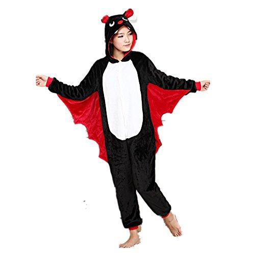 Misslight Pipistrello Animali Pigiama Unisex Cosplay Carnevale Costume Pigiami Camicie da Notte per Adulti e Bambini (L, Pipistrello)