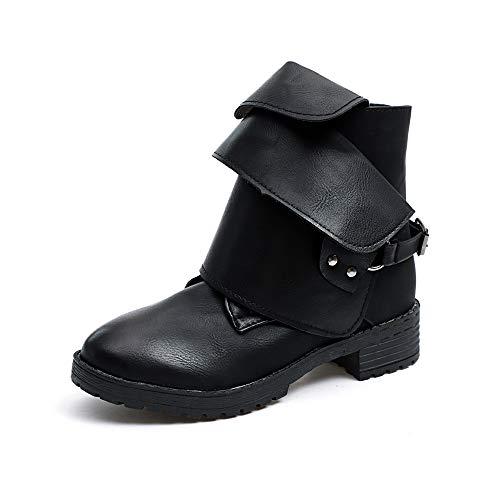 Beladla Zapatos De Mujer Botines Piel De Venado AlgodóN Hebilla Cremallera Lateral Botas De Nieve Botas De Mujer De TacóN Alto Botas Zapatillas Zapatos Interiores
