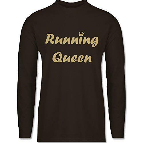 Laufsport - Running Queen - Longsleeve / langärmeliges T-Shirt für Herren Braun