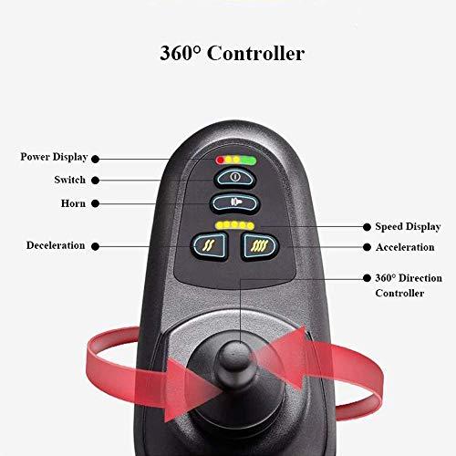 41rbSSnQP6L - Silla de ruedas eléctrica, nuevo control remoto plegable ligero y ligero Silla de ruedas eléctrica motorizada, Scooter de silla de ruedas eléctrica motorizada ligera plegable y de viaje 2019.