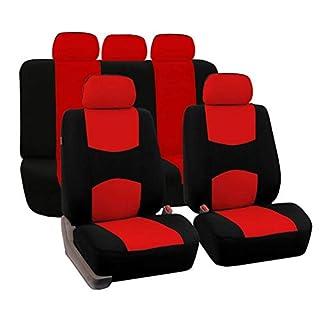 Autositzbezüge Set Universal Wasserdicht Abdeckungen Volle 9 Set Airbag Kompatibel für Kinder Hund Haustier