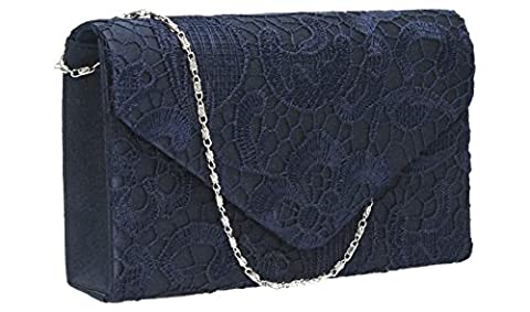 Holly Lace Envelope Womens Party Prom Wedding Bridal Clutch Bag