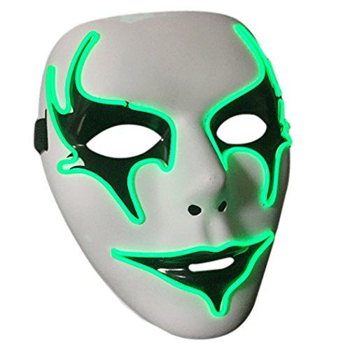 OUTGEEK Halloween-Maske leuchten volle Gesichts-Maskerade-Masken-Kerl Fawkes Maske für Halloween Cosplay Partei-Dekorationen (Maskerade Masken Kerl)