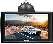 2020 Navigation für Auto, Aigoss 7 Zoll Touchscreen 8GB LKW PKW KFZ GPS Navi Navigationsgerät mit Bluetooth PO