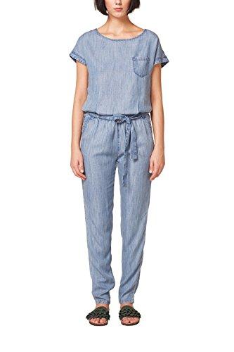 ESPRIT Damen Jumpsuit 058EE1L002, Blau (Blue Medium Wash 902), 36