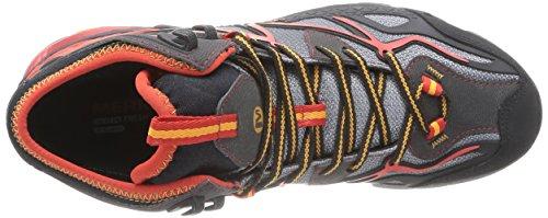 Merrell CAPRA MID SPORT GTX Herren Trekking- & Wanderstiefel Light Grey/Red