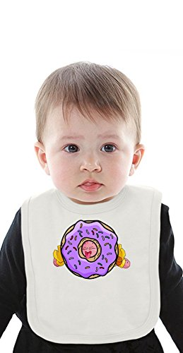 Super Hero With Huge Donut Organic Bib With Ties Medium - Majin Shirt Buu