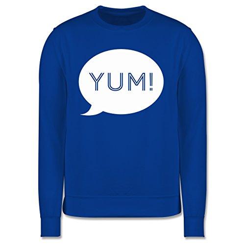Küche - Yum Sprechblase - Herren Premium Pullover Royalblau