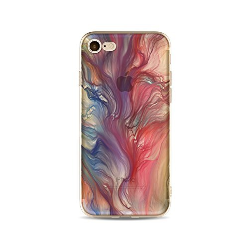 Coque iPhone 6 Plus 6s Plus Housse étui-Case Transparent Liquid Crystal Gouache Art en TPU Silicone Clair,Protection Ultra Mince Premium,Coque Prime pour iPhone 6 Plus 6s Plus-style 9 12