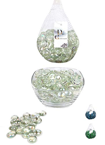 ERMENT-Hübsche Glasnuggets, Glas Dekosteine, Muggelsteine, Vasenfüller - 800 g (Neu) (klar)