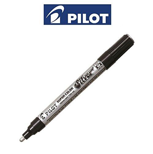 pilot-plateado-medio-super-color-permanente-boligrafos-rotuladores-de-pintura-metalizada-6-plumas