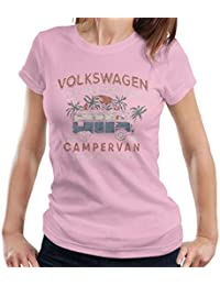 Official Volkswagen The Original Ride Campervan Womens T-Shirt