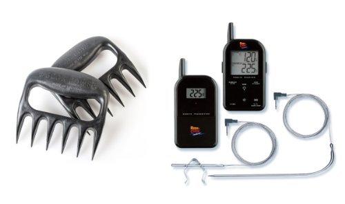 Grizzly Bear Paw Fleisch Handler mit Schwarz Maverick ET732Fleisch Thermometer