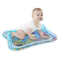 Tradtrust Baby Inflatable Patted Water Play Pad Tummy Time Toy Baby Prostrate Water Filled Cushion