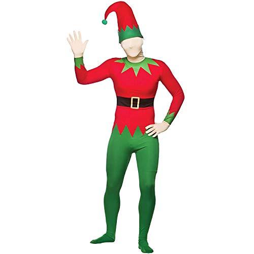 Weihnachts Kostüm Helper Sexy Santas - KOSTÜM ELF ANZUG WEIHNACHTEN MOTIV CHEEKY SANTA'S HELPERS, GRÜN, ROT, BODY UND MÜTZE XS-L