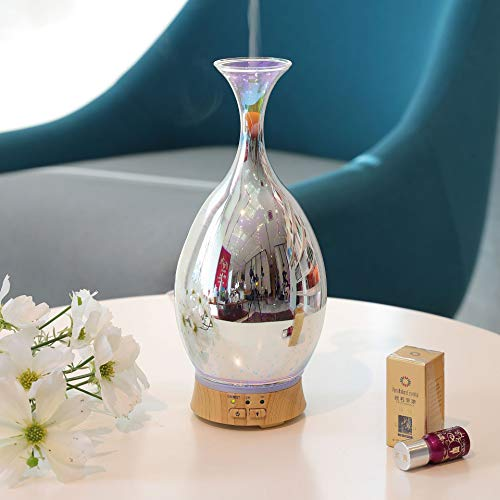 100Ml Glas-Aromatherapie Maschine Haushalt 3D Air Befeuchter Ätherischen Öl-Aromatherapie-Lampen-Essenz