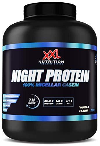 XXL Nutrition Night Protein | Micellar Casein 88% Eiweiß | Schokolade 2000g