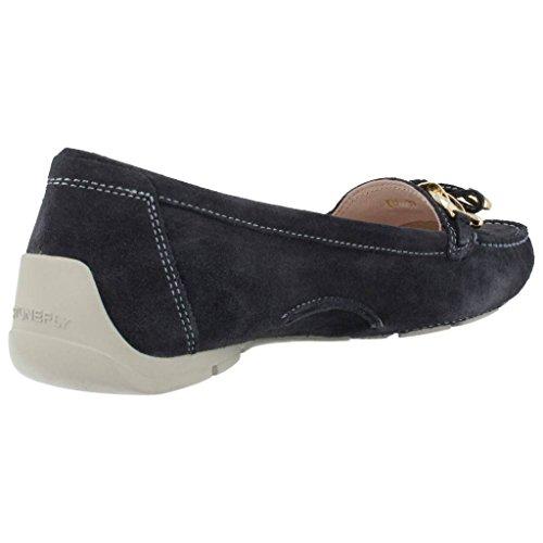 STONEFLY 104.640 blauen absoluten Komfort Damen Schuhe Halbschuhe Terminal Blu