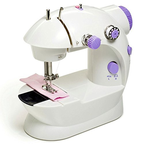 Insasta Portable 4 in 1 mini sewing machine with adapter and foot pedal